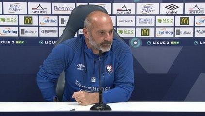 J7 Ligue 2 BKT : La conférence de presse avant C.Niortais / SMCaen