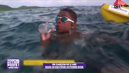 Un garçon de 12 ans nage 40 km pour octobre rose !