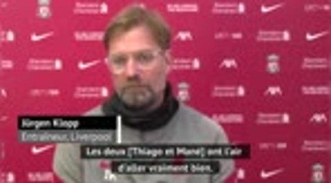 Liverpool - Klopp se réjouit du retour de Mané et Thiago après leur infection au Covid-19