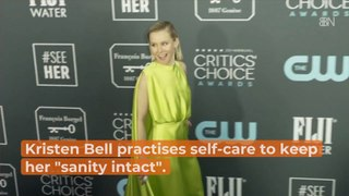 Kristen Bell Believes In Self Care