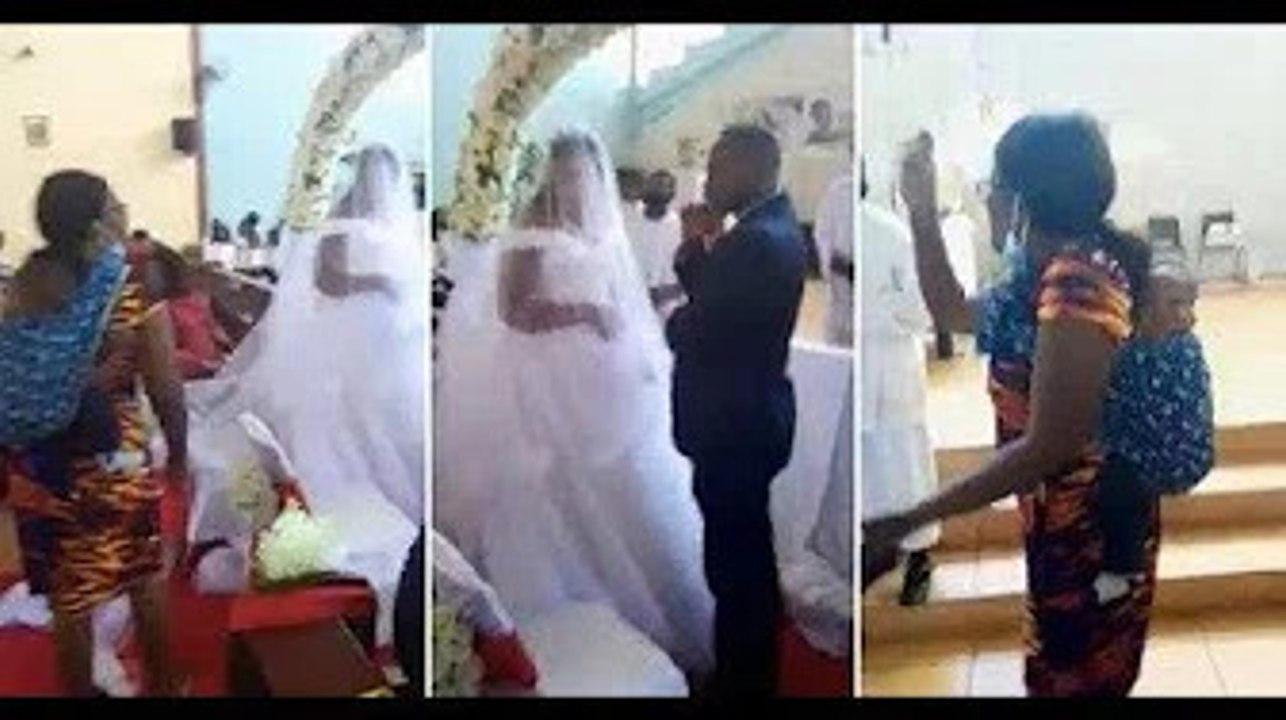Kecoh! Isteri kendong anak serang majlis perkahwinan suami