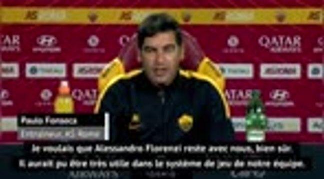 "AS Rome - Fonseca : ""Je voulais que Florenzi reste"""