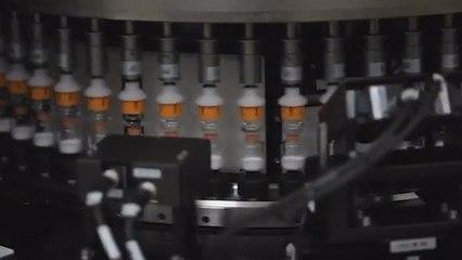 Corona virüs aşısı üretim bandında