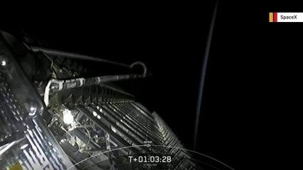 Watch SpaceX deploy 60 Starlink satellites in space
