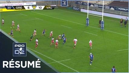 PRO D2 - Résumé FC Grenoble Rugby-Valence Romans Drôme Rugby: 28-25 - J6 - Saison 2020/2021
