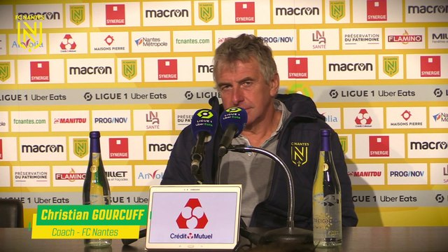 Christian Gourcuff après Nantes - Brest