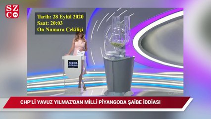 CHP'li Yavuzyılmaz'ndan Milli Piyango'da şaibe iddiası: Fısıldanan numaralar çekilişte çıktı