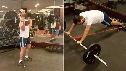 अजिंक्य राहणे सोबत Gym Workout सेशन