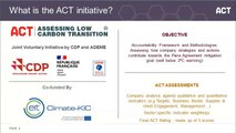 ACT – Assessing low Carbon Transition new methodologies development (Chemicals, Pulp & Paper, Glass and Aluminium.