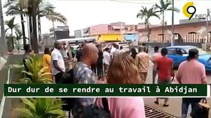 Dur dur de se rendre au travail à Abidjan
