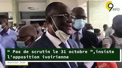 Election 2020 - Pas de scrutin le 31 octobre insiste l'opposition ivoirienne