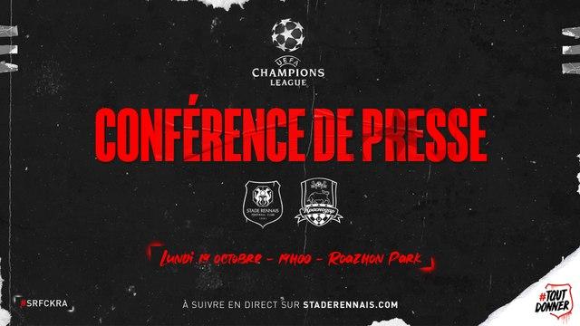 J1. UEFA Champions League. Conférence de presse d'avant-match Krasnodar