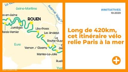 Long de 420km, cet itinéraire vélo relie Paris à la mer