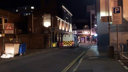 Paramedics transport man to hospital after he collapses outside club