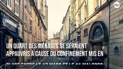 Un quart des ménages en France se sont appauvris à cause du confinement