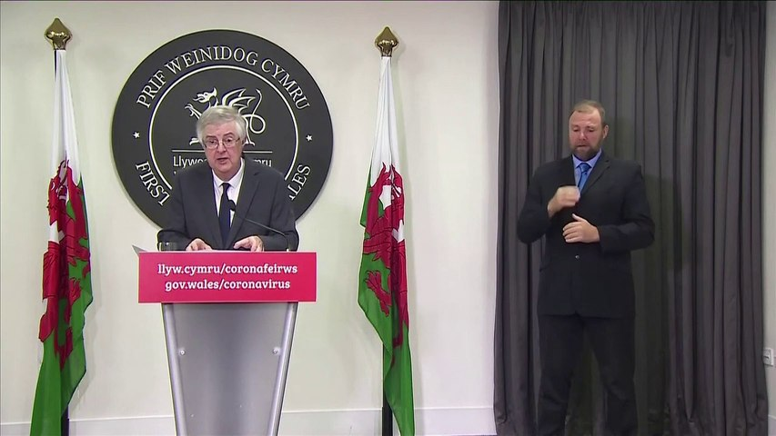 Mark Drakeford announces Wales lockdown