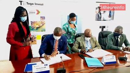 Signature de convention  entre PNUD Togo et Togo Invest