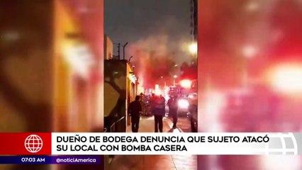 Dueño de bodega denunció que sujeto atacó su local con bomba casera | Primera Edición (HOY)