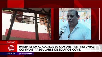 Fiscalía interviene casa de alcalde de San Luis por presunta irregularidad en compras de su municipio | Primera Edición (HOY)