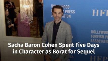Sacha Baron Cohen Is Dedicated When Acting