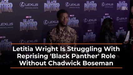 Letitia Wright Is Hurting Without Chadwick Boseman