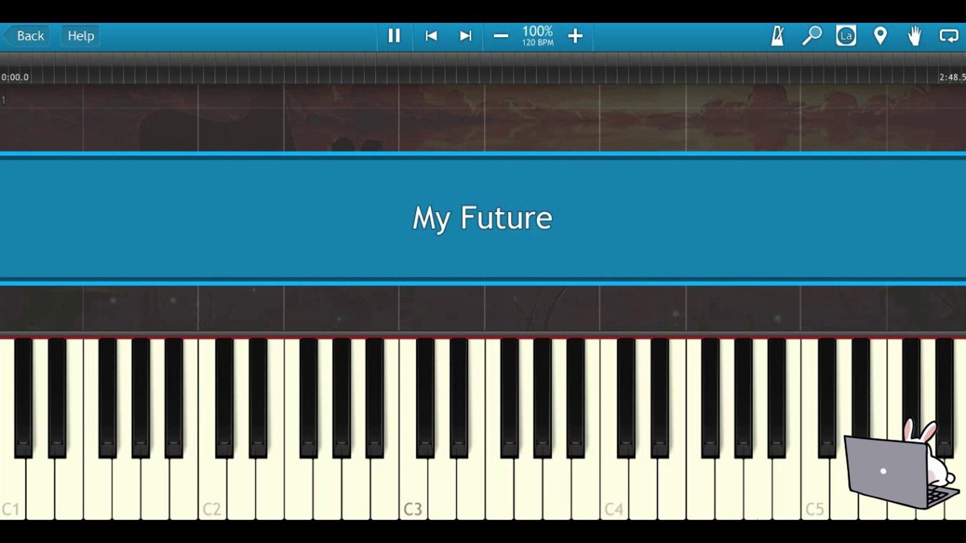 Billie Eilish - my future (Piano Tutorial Synthesia)