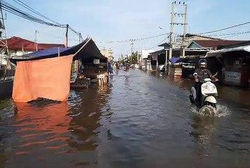 Banjir Rob Mulai Rendam Kuala Tungkal