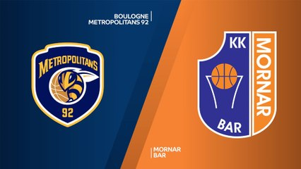 Boulogne Metropolitans 92 - Mornar Bar Highlights | 7DAYS EuroCup, RS Round 4