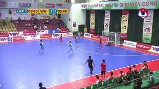 Highlights   Vietfootball - S. Sanatech Khánh Hòa   Futsal HDBank VĐQG 2020   VFF Channel