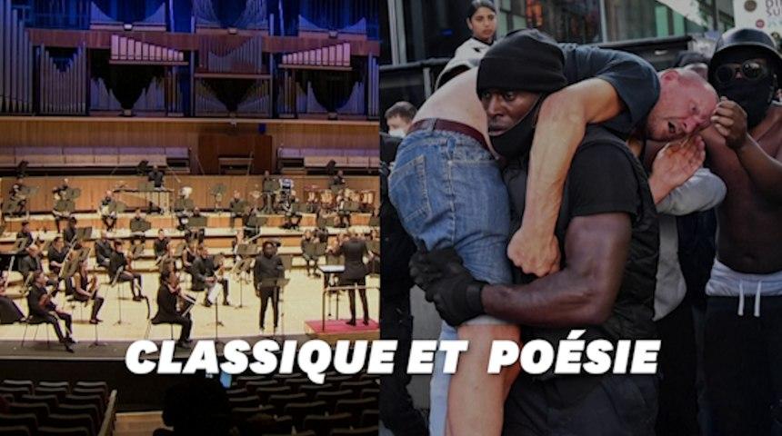 Ce manifestant héros de Black Lives Matter a inspiré un orchestre britannique
