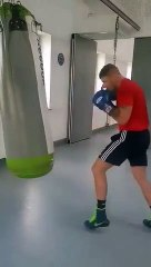Connor Coyle in training