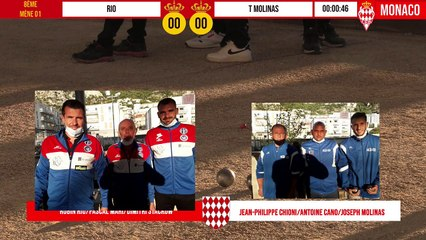 8ème RIO vs T MOLINAS International à pétanque de Monaco - Octobre 2020