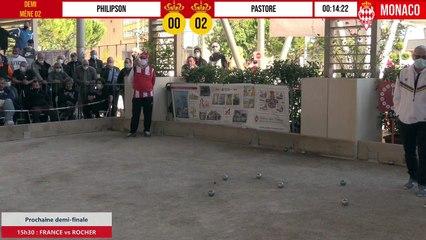 Demi-finale disputée PHILIPSON vs PASTORE International à pétanque de Monaco - Octobre 2020