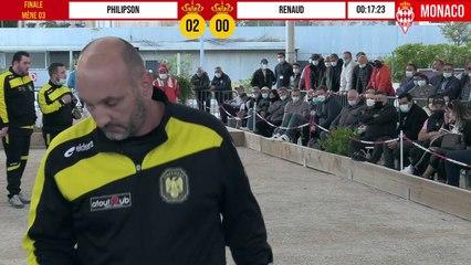 Finale PHILIPSON vs RENAUD International à pétanque de Monaco - Octobre 2020