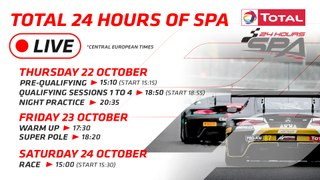 LIVE - TOTAL 24 HOURS OF SPA 2020 - ENGLISH
