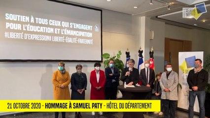 Hommage à Samuel Paty - Hôtel du Département