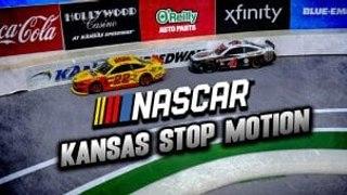 Logano and Harvick battle in stop motion at Kansas