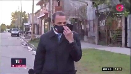 Un periodista estaba por presentar un informe sobre la inseguridad y le robaron el celular