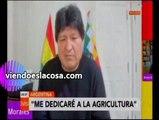 Video Evo Morales asegura que se dedicará a la agricultura cuando vuelva a Bolivia
