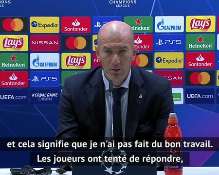 """Groupe B - Zidane """"Je suis le seul responsable"""""""