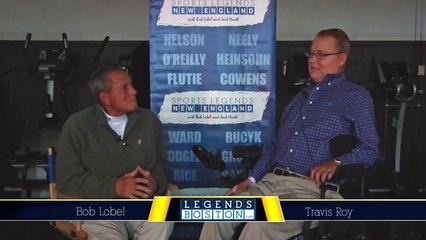 Travis Roy Interview with Bob Lobel - Legends Boston TV - BU Hockey