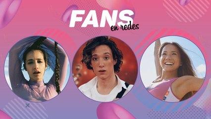 Ángela Torres, Lucas Spadafora y Agustina Takaichi en Fans en Redes