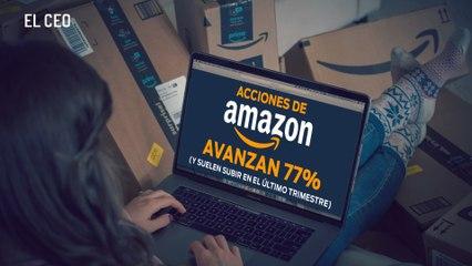 Acciones de Amazon avanzan 77% en 2020
