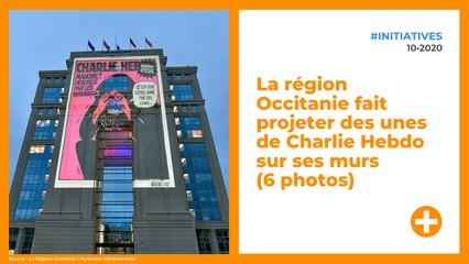 La région Occitanie fait projeter des unes de Charlie Hebdo sur ses murs (6 photos)