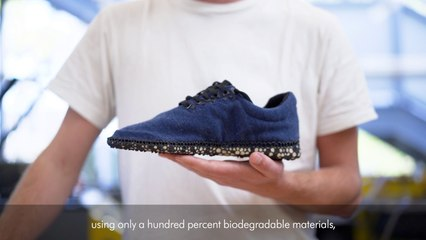 Rik Oithuis wins award with compostable running shoes