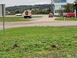 3 patients covid transférés à Bordeaux - Reportage TL7 - TL7, Télévision loire 7