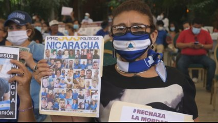 Nicaragua protest: Prisoners sew lips shut after alleged abuses