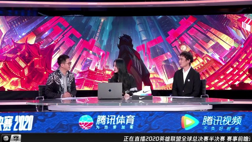 SNH48 AW9 - Mo Han (Momo) as guest star during League of Legends Worlds broacast 20201025