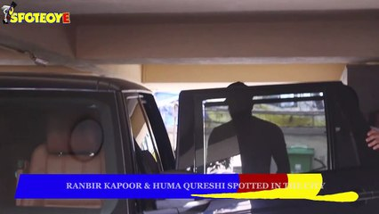 Ranbir Kapoor & Huma Qureshi Spotted in the City | SpotboyE