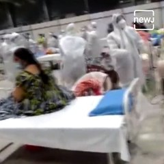 Patients Perform Garba With Corona Worriors At Covid Center In Goregaon Mumbai